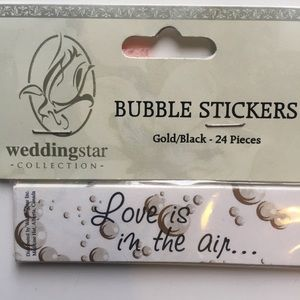 Wedding Star Bubble Stickers